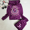 New arrival 2017 Velvet   set women's spring and autumn sweatshirt sportswear womens 2piece fashion set  tracksuits