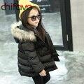 Chifave 2016 Venda Quente Crianças Meninas Grosso Outerwear Casaco de Inverno Bonito Do Bebê Meninas Quente Jaqueta Com Capuz com Bolsos 3 Cores