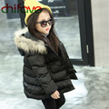 chifave 2016 Hot Selling Winter Children Girls Thick Outerwear Coat Cute Baby Girls Warm Hooded with Pockets Jacket 3 Colors