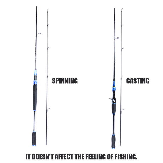 Special Price Angryfish 1.8M Lightweight Carbon Medium Power Casting/Spinning Portable Travel Fishing Rods for Freshwater Saltwater