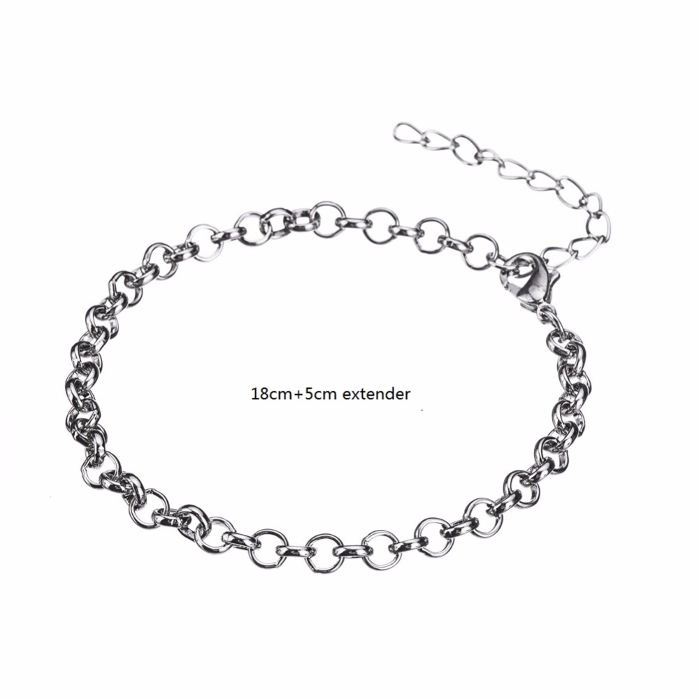 My Shape My Shape Silver Lobster Clasp Rolo Chain Bracelets Kids Jewelry  Wholesale 20 Pcs Lot Fit Charm For Teen Girls