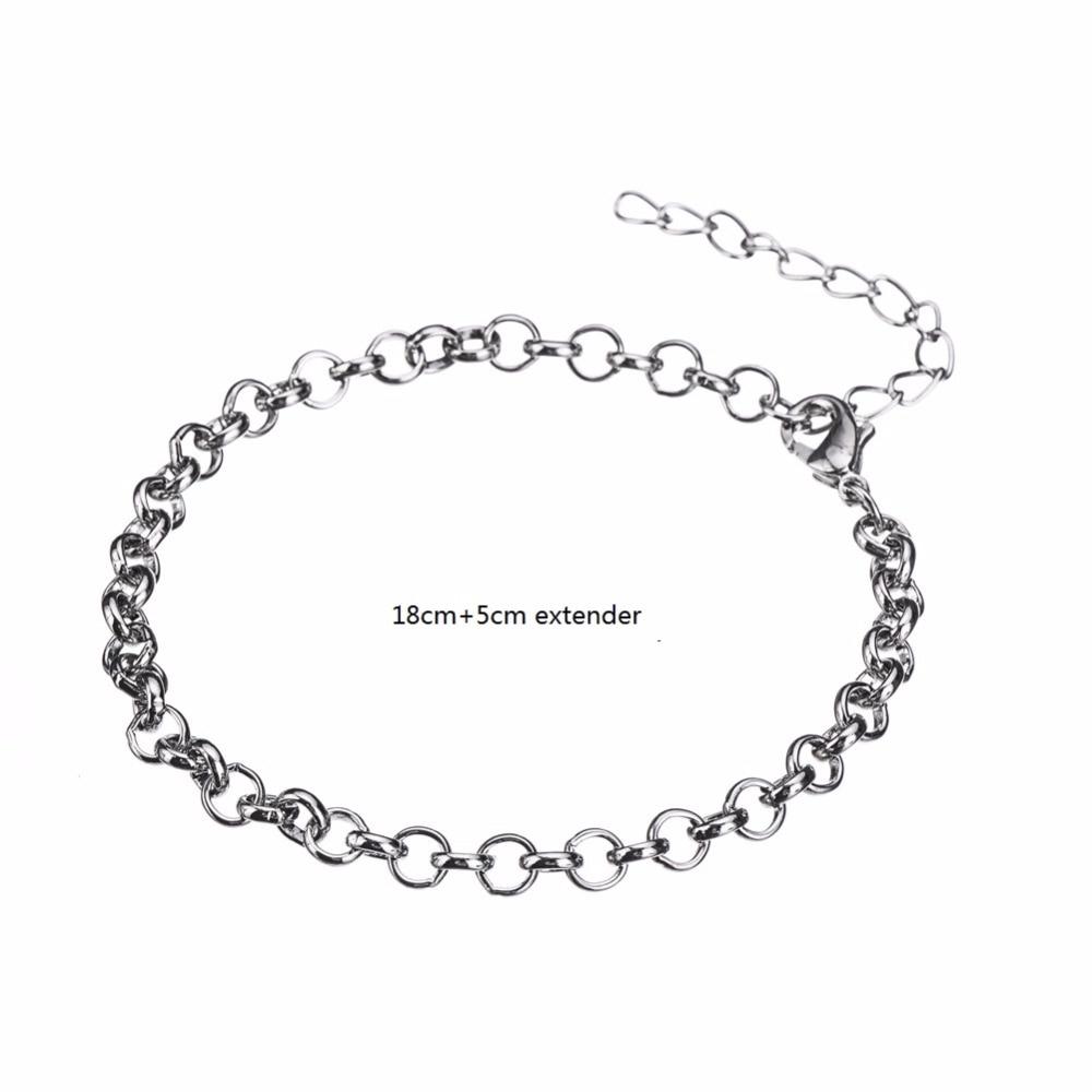 Myshape Silver Lobster Clasp Rolo Chain Bracelets Man Jewelry Wholesale  20 pcs/lot