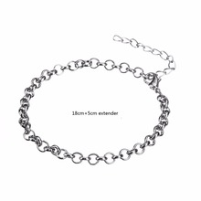 Myshape Silver Lobster Clasp Rolo Chain Bracelets Man Jewelry Wholesale  20 pcs/lot