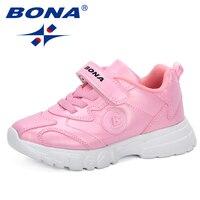 Bona 2019 새로운 인기 스타일 어린이 운동화 anti-slippery 편안한 신발 봄 가을 스포츠 신발 키즈 캐주얼 신발
