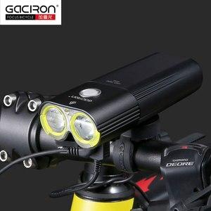 Image 3 - Gaciron 자전거 헤드 라이트 리어 라이트 스위트 팩 USB 충전 내부 배터리 LED 프론트 테일 램프 사이클링 조명 시각 경고