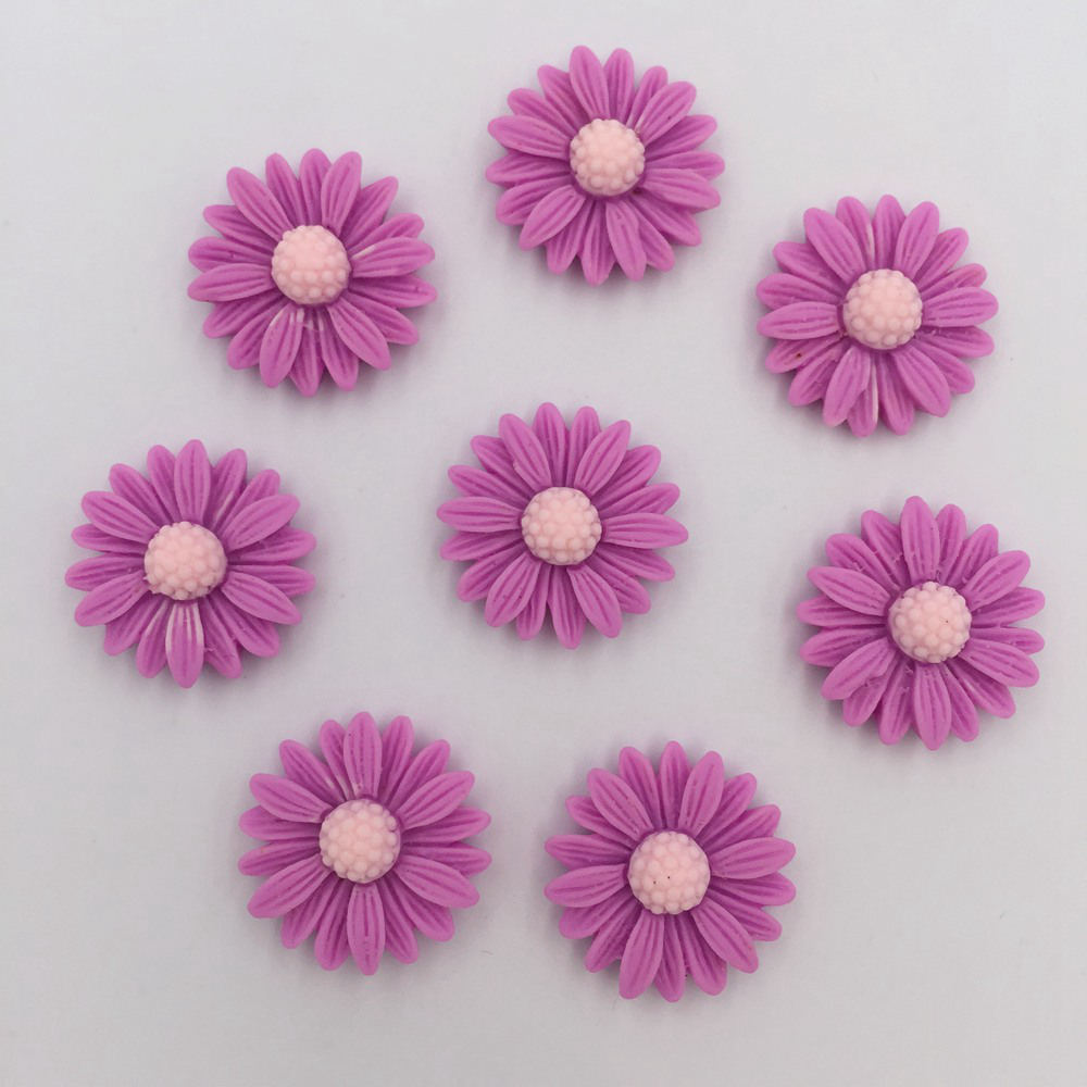 DIY 100pcs 20mm Resin Hand Painting Daisy Flatback Stone/Children Scrapbook Crafts K85*10