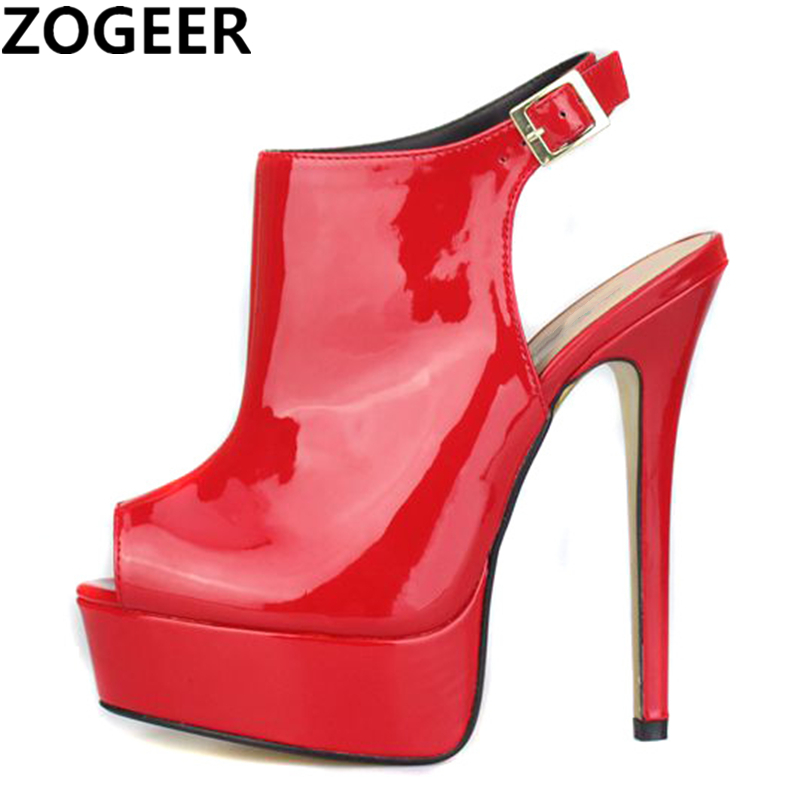 Plus Size 48 Summer Women Sandals Pumps Shoes Peep Toe Sexy High Heels Gladiator Sandals Women