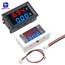 Mini Digital Voltmeter Ammeter DC 100V 10A 0.28 inch Panel Amp Voltage Current Meter Tester Blue Red Dual LED Display Monitor