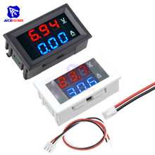 Mini voltmètre numérique ampèremètre cc 100V 10A 0.28 pouces panneau ampèremètre de tension testeur de courant bleu rouge double LED moniteur daffichage