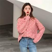 e614f337029 Осень зима новые модные женские топы и блузки для малышек японский сладкий  эстетический Личность печати chic
