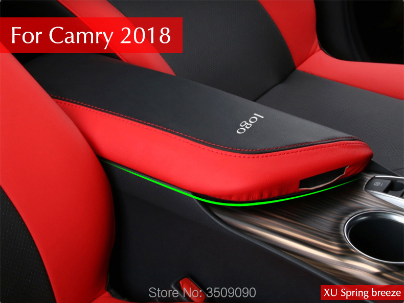 Car Console Storage Box Cover Mat Pad Garnish Internal Decoration Car styling For Toyota Camry 2018 LHD