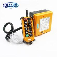 Interruptor de controle remoto rádio sem fio industrial 1 receptor + 1 transmissor velocidade grua guindaste controle rádio elevador F23 A + s