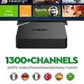 Novo Android 6.0 CAIXA de TV IPTV Amlogic S905X Com Árabe Francês IPTV 2 GB/8 GB Media Player 1 Ano QHDTV Servidor KODI Totalmente Carregado