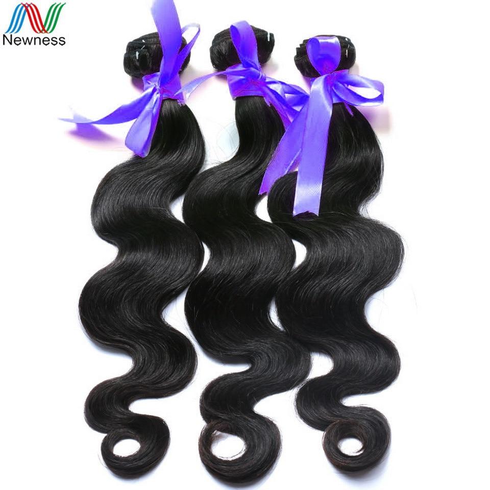 Newness Hair Indian Virgin Hair Body Wave Single Bundle Unprocessed Virgin Indian Hair B ...