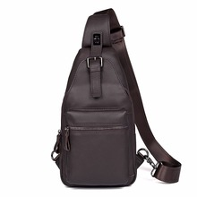 Excellent Leather Cassic Style Chest Bag Fashional Sling Bag For Men Coffee Small Messenger Bag 4012Q/A