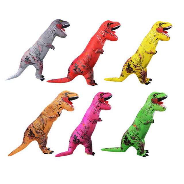 Halloween Costumes for Woman Adult Inflatable Dinosaur Costume T-Rex Cosplay Dino Funny Mascot Holiday Birthday Party Dress