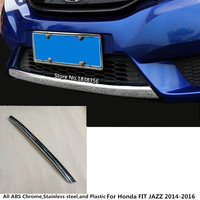 For Honda FIT JAZZ 2014 2015 2016 Car styling cover protection Bumper engine trim Front bottom Grid Grill Grille hoods edge 1