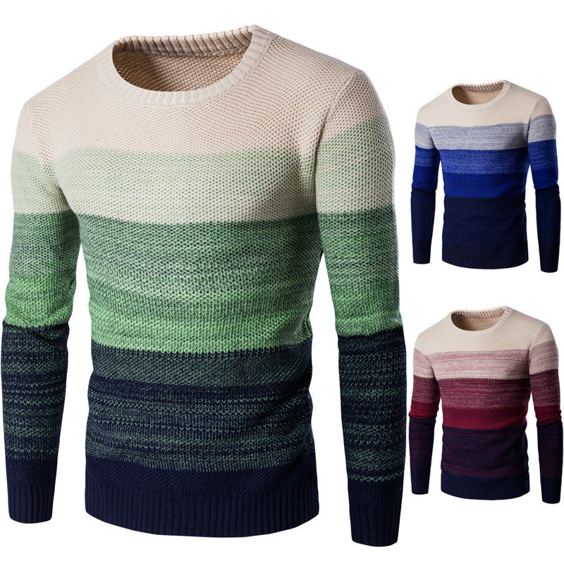 NEW Mens O neck Sweaters Pullovers Clothing For Man Cotton Knitted casual pullover Sweater men slim fit Male Sweaters