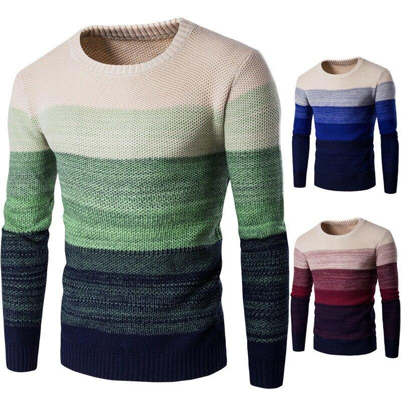 新しいメンズoネックセータープルオーバー服用男綿ニットカジュアルプルオーバーセーター男性スリムフィット男性セーター