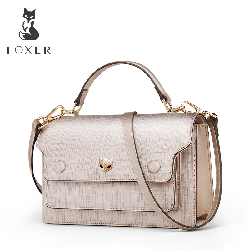 все цены на FOXER Brand Women Korean Style Small Flap Crossbody Bag Lady Luxury Chic Leather Shoulder Bag Female High Quality Messenger Bag