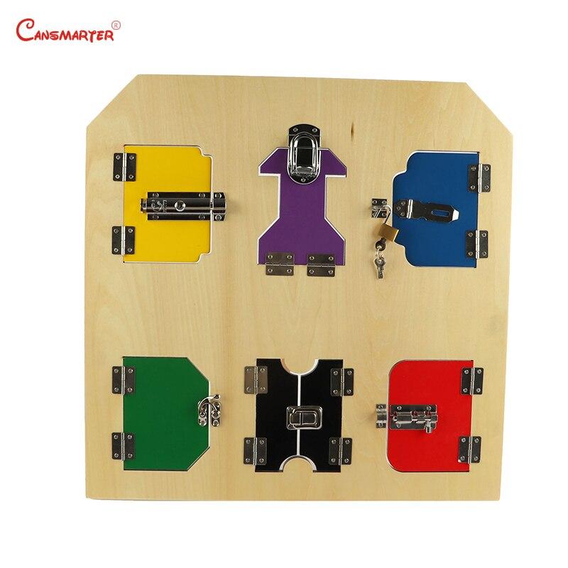 Montessori compétences de vie serrures conseil exercice enfants jouets bois jeux éducatifs jouets matériaux en bois jouet LT058-NX3
