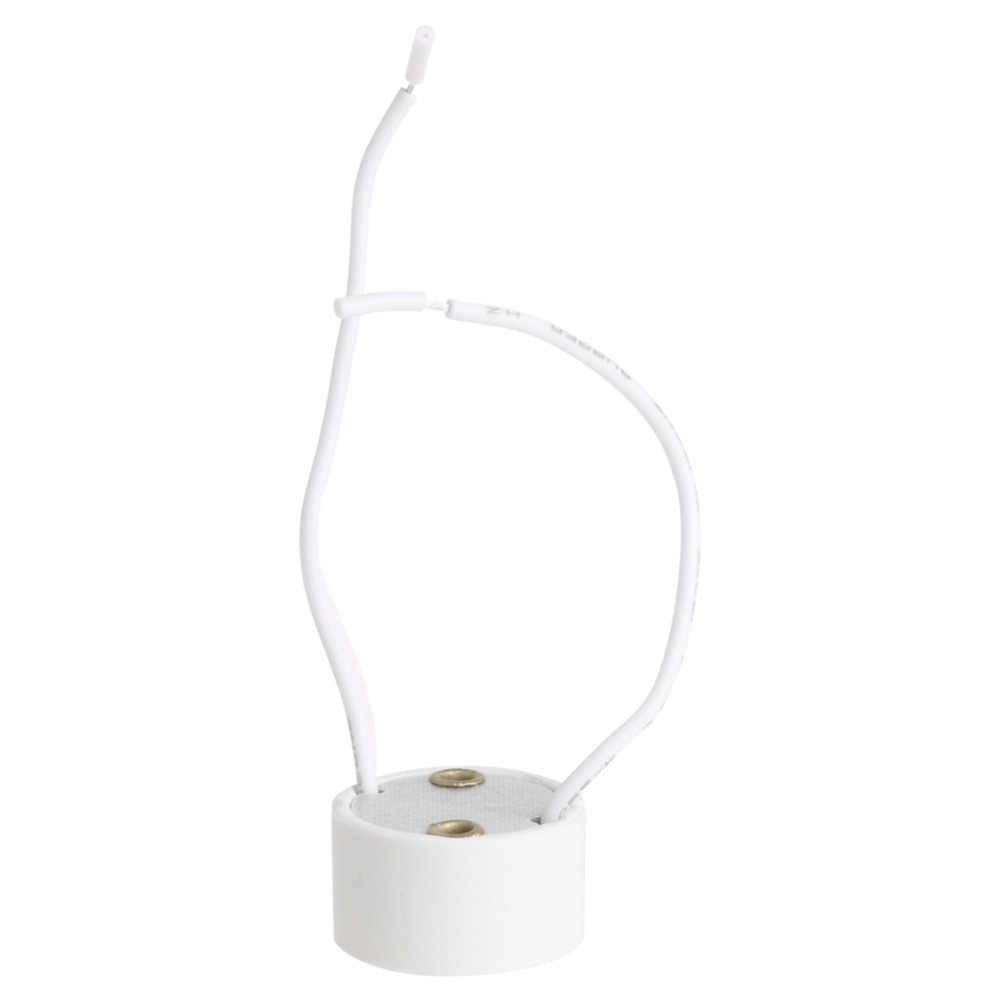 NEW 1Pcs GU10 Socket LED Bulb Halogen Lamp Holder Base Ceramic Wire Connector  H15