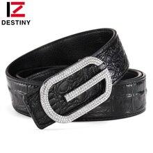 DESTINY Man G Belt Luxury Famous Brand Designer Belts Men High Quality Male Genuine Leather Strap Waist Wedding Crocodile Cinto
