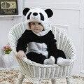 Animal dos desenhos animados Panda Leopard costume bebê completo manga com capuz dorminhoco fotografia props infantil Homewear flanela Pijamas Pijamas