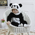 Panda Animal de la historieta leopardo traje del bebé de la manga completa con capucha Sleeper apoyos de la fotografía infantil de franela Homewear Pijamas Pijamas
