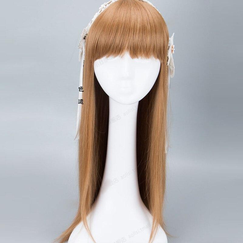 60cm long straight light blonde