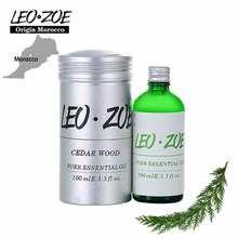 LEOZOE Cedar Wood Essential Oil Certificate Of Origin Morocco High Quality Authentication Cedar Wood Oil 100ML Huile Essentielle