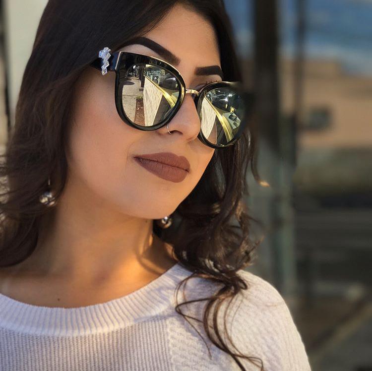 HTB1mE7fXGmgSKJjSspiq6xyJFXaB - Oversized Crystal Acetate Black Cat Eye Sunglasses 2018