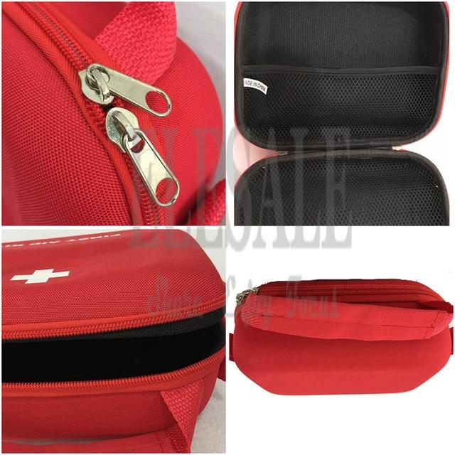 Portable First Aid Kit Bag Water Resistant Emergency Kit Bag Shoulder Strap For Hiking Travel Home Car Emergency Treatment 6