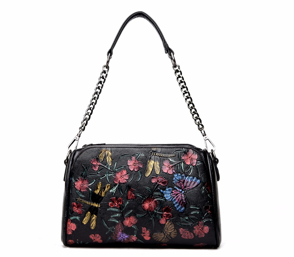 Butterfly Women Messenger Bag Small Square Bag Shoulder Bags High Quality Leathe