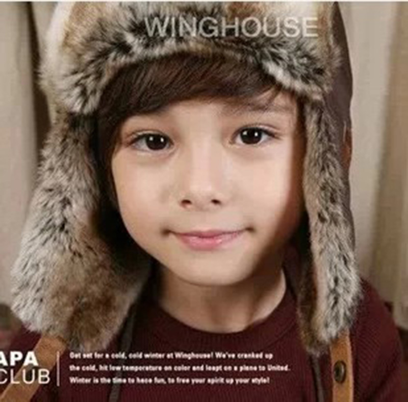 2 Color Winter Hat Baby Bomber Hat Kids Cap Retail Kids Bomber Hats Boys  Winter Hats Children Lei Feng Warm Caps 6bcc4dc7a67