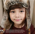 2 Color Winter Hat Baby Bomber Hat Kids Cap Retail Kids Bomber Hats Boys Winter Hats Children Lei Feng Warm Caps