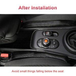 Image 5 - 1Pcs Carbon Fiber Lekvrij Beschermende Seat Gap Auto Cover Pad Voor Bmw M Power Prestaties M3 M5 X1 X3 x5 X6 E46 E39 E36