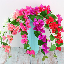 HOT Single Stem Climbing Bougainvillea Simulation Bougainvilleas for Home Showcase Party Decorative Artificial Flowers home decorative high simulation ombre artificial flowers
