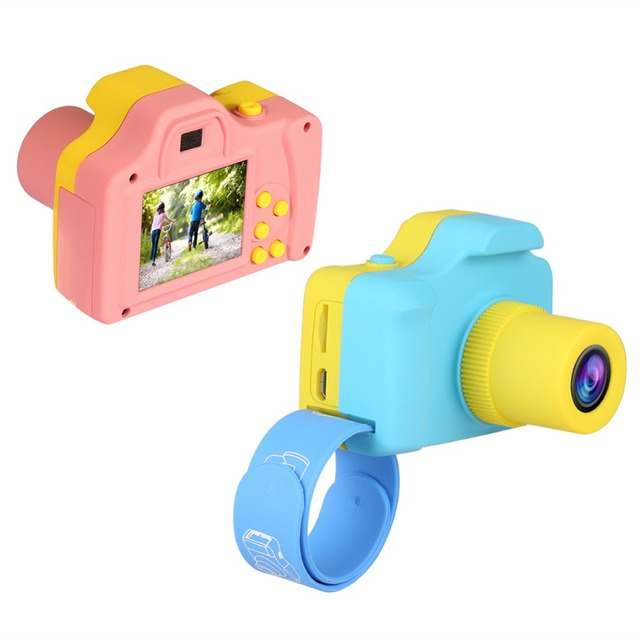 1.77″ TFT Display 1080P Mini LSR Cam Digital Camera for Kids Baby Cute Cartoon Multifunction Toy Camera Children Birthday Gifts