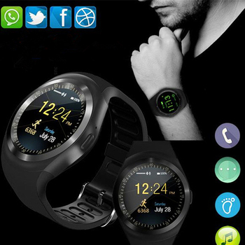 2018 Bluetooth Y1 Smart Watch clock Android SmartWatch Phone Call GSM Sim Remote Camera Information Display Sports Pedometer meanit m5