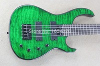 Free shipping New banjo clouds pattern green bass guitar electric guitar modifications may be required .