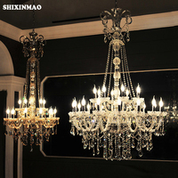 SHIXNIMAO factory Crystal lamp Long Stair Chandelier Crystal Large Foyer Light Modern Fashion Living Room Crystal chandeliers