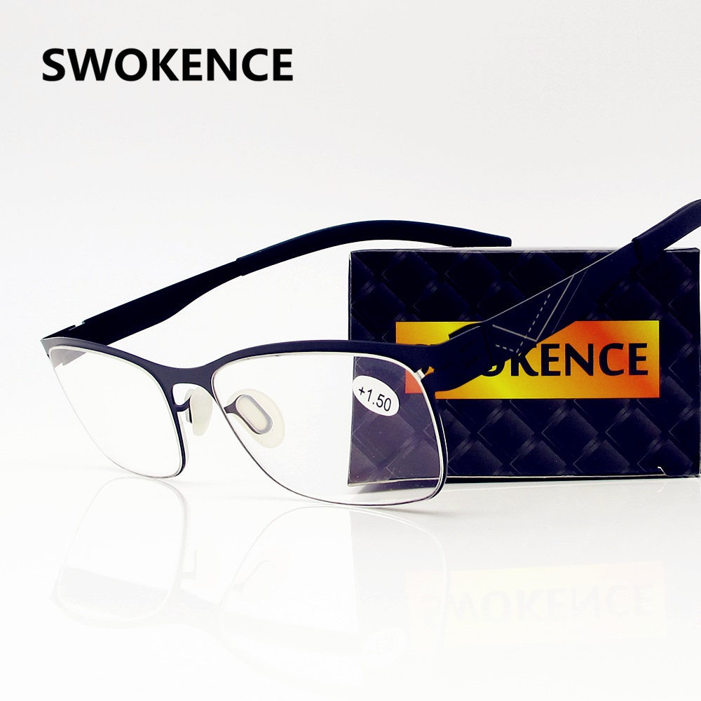 SWOKENCE Upscale Anti Blue Rays Reading Glasses Men Women High Quality Anti-radiation Presbyopic Goggles Computer Workers R115