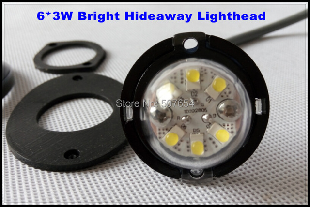 Higher star 6*3W car Led Hideaway Lights,Sidelight,Grill