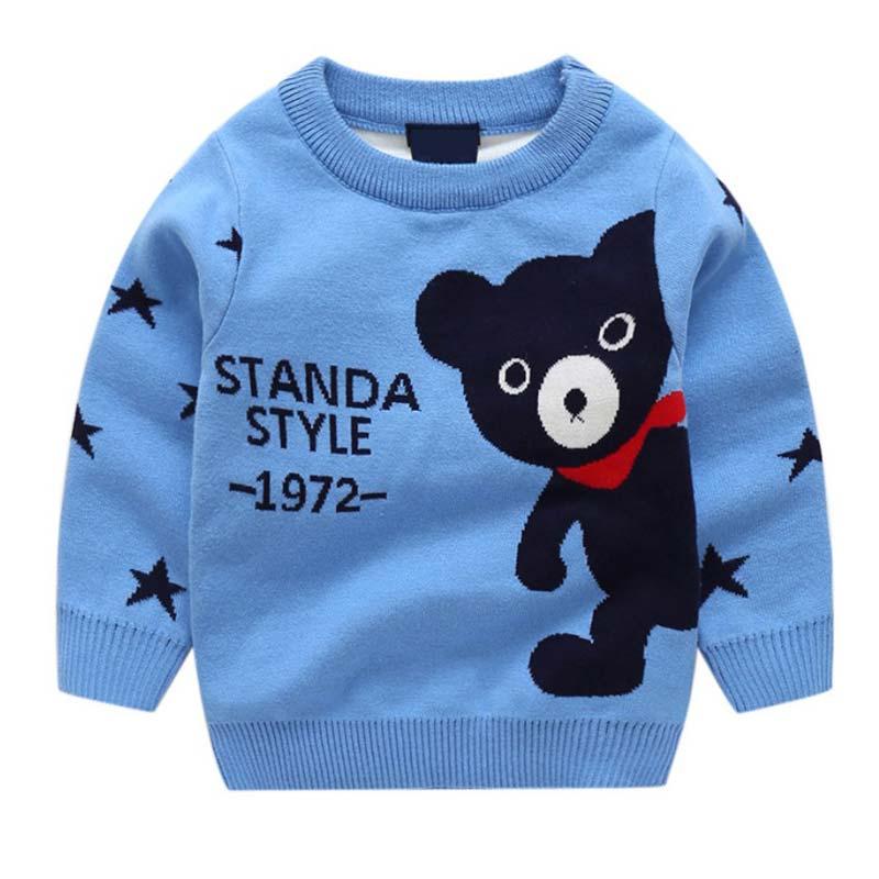 BOTEZAI spring autumn girls sweaterr baby Bear cartoon sweater children casual fashion coat pullover jacket
