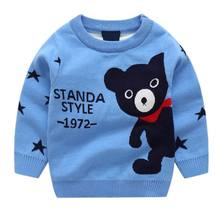 BOTEZAI spring autumn girls sweaterr baby Bear cartoon sweater children casual fashion coat pullover jacket