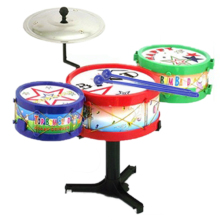 Children Kids Colorful Plastic Musical Instruments Toy Drum Drum Kit Set