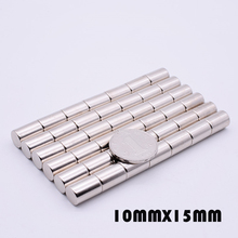цена на 10/30Pcs 10x15mm N35 Neodymium Magnet Disc 10mm x 15mm Permanent NdFeB Small Round Super Powerful Magnetic Magnets For Craft