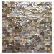 "Peel and Stick Mother of Pearl Shell Mosaic Tile for Kitchen Backsplashes, 12"" x 12"" Coloful Taxtures with 6 Tablets(China)"