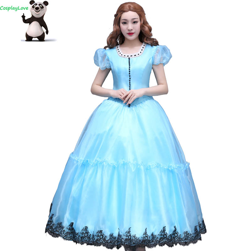 CosplayLove Movie Alice in Wonderland Custom-made Alice Kingsleigh Dress Cosplay Cosplay Costume For Kid Adult Women